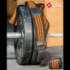 knee wraps black & orange