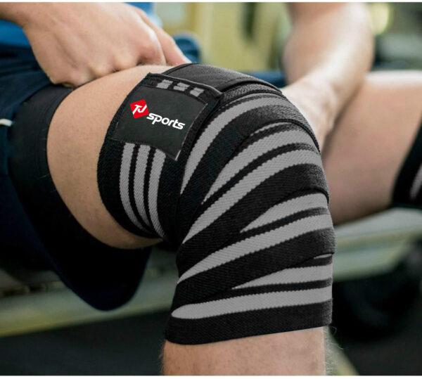 knee wraps black & gray