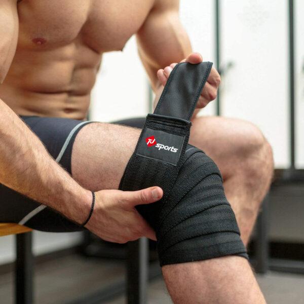 knee wraps black