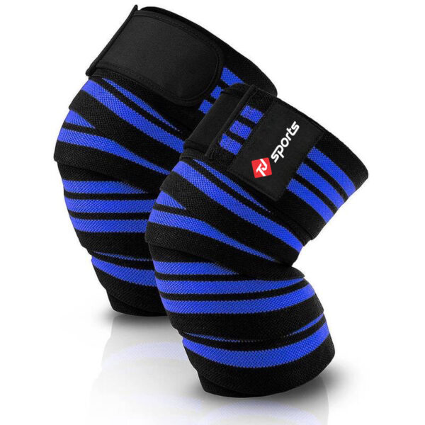knee wraps black & blue