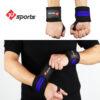 Blue wrist wrap
